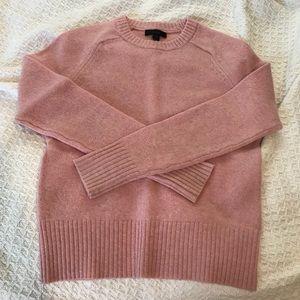 J crew 100% wool pink knit